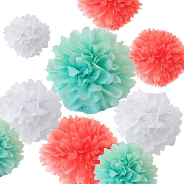 9pcs mixed sizes 8 10 14 mint green white coral tissue paper 9pcs mixed sizes 8 10 14 mint green white coral mightylinksfo