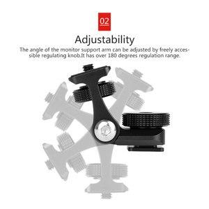 Image 3 - Универсальный кронштейн для монитора видеокамеры Feelworld F6S Bestview S7 S5, регулируемый кронштейн с поворотом на 180 градусов и креплением для холодного башмака