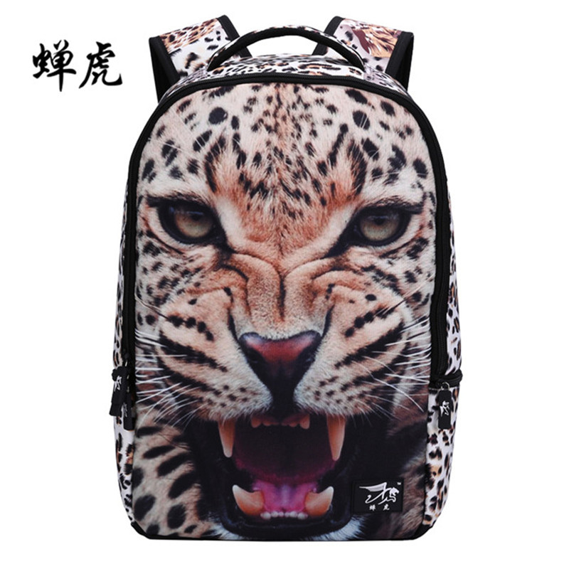New Fashion Women Canvas Printing Backpack Stylish Tiger Leopard Backpacks School Bags For Girls Boys Backbag Mochila Feminina tropical doodle 3d printing mini backpack women mochila masculina who cares new canvas backpacks for teenagers girls school bags