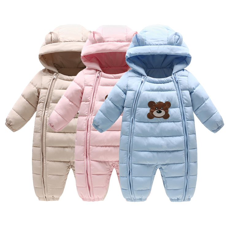 6-24M Baby Autumn & Winter Newborn Romper Girls Infants Climb Clothes Children Cotton Overalls Boys Long Sleeve Hooded Romper baby rompers 2016 spring autumn style overalls star printing cotton newborn baby boys girls clothes long sleeve hooded outfits