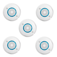 5pcs/lot PGST WIFI Wireless Smoke Detector SMS Independent Alarm Smoke Fire Sensitive Sensor for Home/House Security Alarm