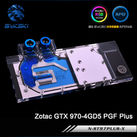 Bykski N ST97PLUS X Full Cover Graphics Card Water Cooling Block For RGB RBW AURA Zotac