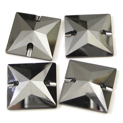 Jet Hematite 3240 tér 16mm 22mm varrással a strasszos kristályok varrása síkkötélű strasszos kristály kő beillesztés gyöngyök kövek