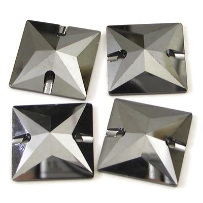 Jet Hematite 3240 Square 16mm 22mm Sew on Rhinestones Kiteet Sewing Flatback tekojalokivi kristalli kivi liitä helmiä kiviä