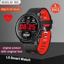 Nuevo L5 inteligente reloj de los hombres IP68 impermeable de múltiples deportes de modo de pronóstico del tiempo Bluetooth Smartwatch de 100 días