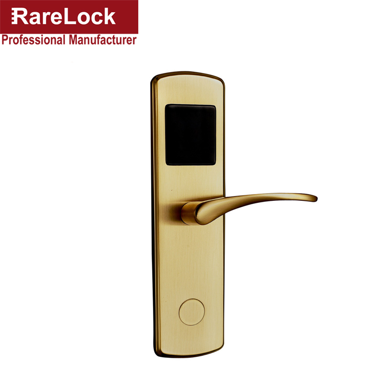 Rarelock Christmas Supplies Golden Digital Electric Door Lock for Home Office Hotel DIY Security Hardware a