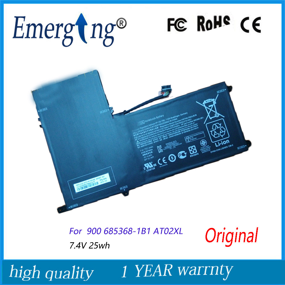 7.4v 25Wh New  Original  Laptop Battery for HP  ElitePad 900 685368-1B1 AT02XL 7.4v 25Wh New  Original  Laptop Battery for HP  ElitePad 900 685368-1B1 AT02XL