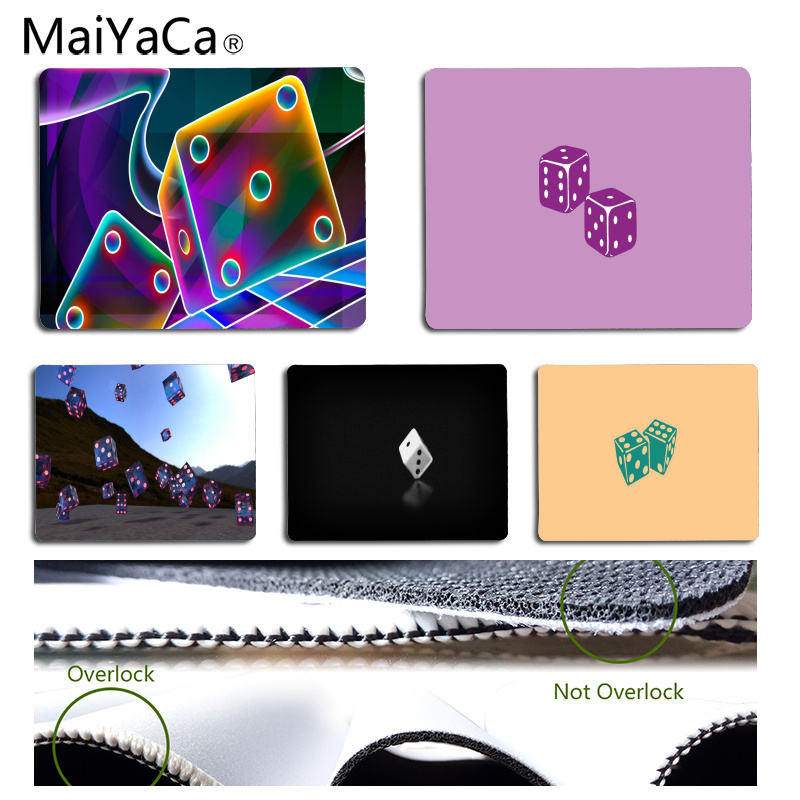 MaiYaCa The dice Customized laptop Gaming mouse pad Size for 25x29CM Speed Version Gaming Mousepads