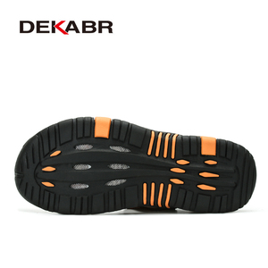 Image 4 - DEKABR Brand Men Genuine Leather Sandals Fashion Slippers Male Breathable Summer Beach Shoes Sandals Casual Men Shoes Size 38~45