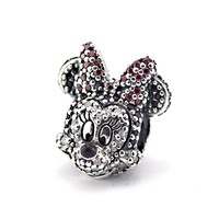 Fits Pandora bracelet and necklace Portrait Minnie Original Silver Beads 925 sterling silver charms DIY retail in May