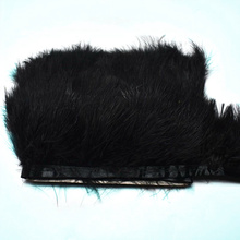 1yards black fluffy Marabou feathers Trims ribbon 8-10cm party feather Fringe for DIY Sewing dress clothing wedding  Accessories цена