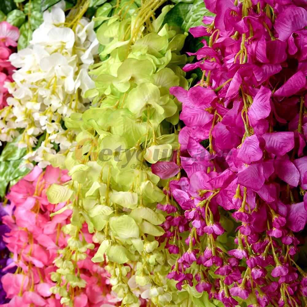 12*New Wall Hanging Wisteria Flower Vine Ivy Home Wedding Garden ...