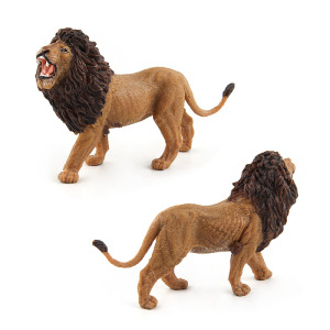 Image 5 - Wild Simulation Lion Animal models Toy plastic Lioness Animal figures home decor Gift For Kids figurine dolls Bedroom Decoration