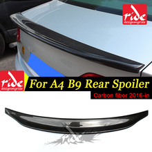 цена на Carbon Fiber Rear Trunk Boot Lip Spoiler For Audi A4 A4a A4Q Coupe standard 2016-in A4 B9 Caractere Style Boot Lip wing Spoiler