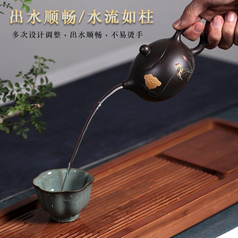 Необработанная руда kingbox кунг фу чай вкусы xi shi маленький чайник смешанная партия ручной цветной рисунок или узор - 4