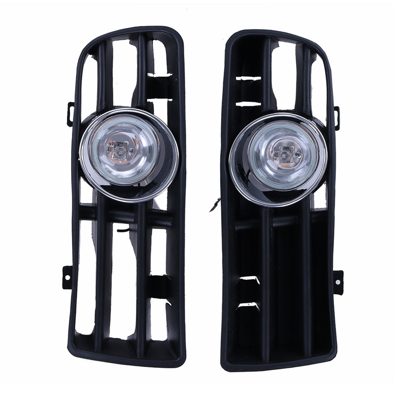 2X Fron Lower Bumper Fog Light Grilles Foglamp Grill Set For VW GOLF 4 TDI GTI MK4 1998 1999 2000 2001 2002 2003 2004 P71 simulation mini golf course display toy set with golf club ball flag