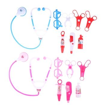 8 Pieces/Set Children Pretend Play Doctor Nurse Toy Set Portable Suitcase Medical Kit Kids Educational Role Play Classic Toys