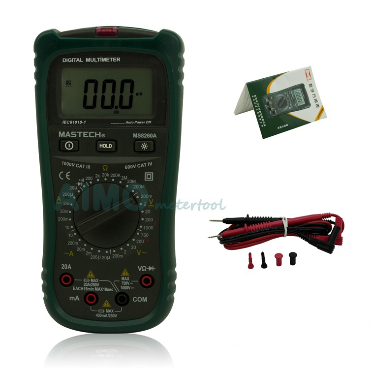 ФОТО MASTECH MS8260A Digital Multimeter Voltage Current Microampere Tester Non-contact voltage detection Diode and Continuity Test
