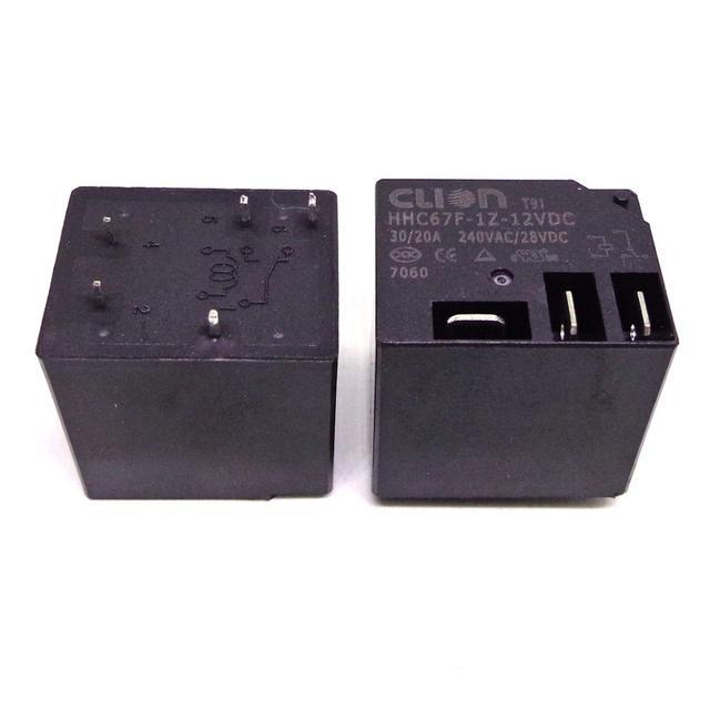 5PCS Clion RELAY HHC67F 1Z 12VDC T91 12VDC 5PIN new and original