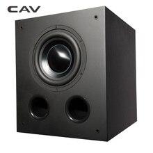 CAV DW8 Deep Bass Subwoofer Professinal Active Speaker Home Theater System Woofer Bass Speaker Wooden Black Strong Bass Speakers
