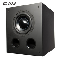 CAV DW8 Deep Bass Subwoofer Professinal Active Speaker Home Theater System Woofer Bass Speaker Wooden Black Strong Bass Speakers