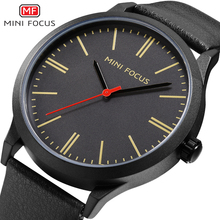 MINIFOCUS Luxury Brand Men's Wrist Watches Luxury Design Quartz Watch Men Waterproof Black Leather Strap Montre Homme Male Clock relogio masculino pagani design luxury brand watch men waterproof leather quartz wrist watch clock black saat montre homme 2018