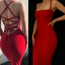 Special promotions 2019 new sling tight red black beige back