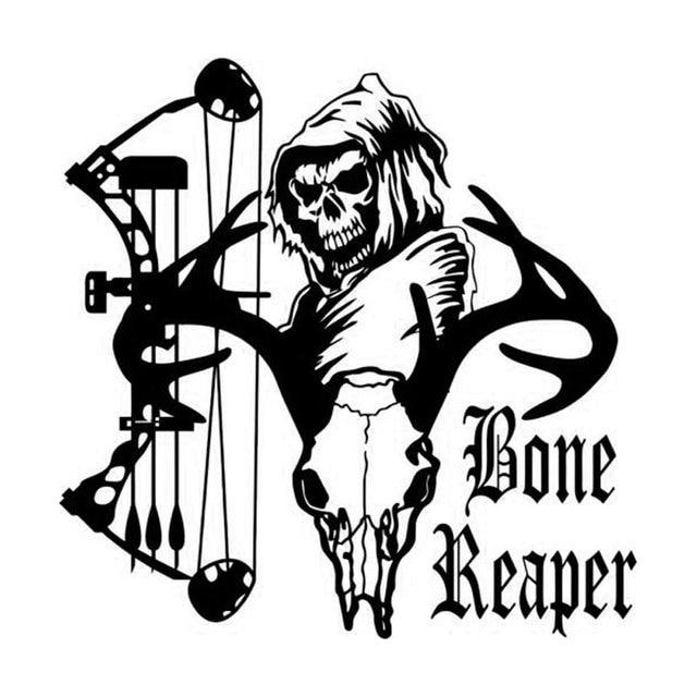 14 7cm 15cm personalized bone reaper skull hunting vinyl car Jumper Car 14 7cm 15cm personalized bone reaper skull hunting vinyl car stickers c5 1855
