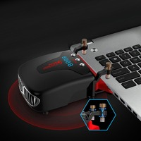 Mini Vacuum Air Extracting USB Cooling Pads Digital Display Cooler Fan For Notebook Laptop Low Noise CPU Cooler Radiator