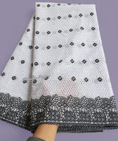 White Grey Both For Men And Women African Swiss Lace Fabric High Quality 5 Yards With