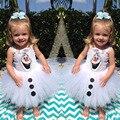 Fashion crotch white tutu style first 1 year girl baby birthday dress
