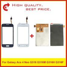 """4.0 """"Per Samsung Galaxy Ace 4 Neo G316 LCD G316M G316H G316F Display LCD Con Touch Screen Digitizer Sensore pannello di Ricambio"""
