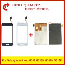 """4,0 """"para Samsung Galaxy Ace 4 Neo G316 LCD G316M G316H G316F pantalla LCD con Sensor digitalizador de pantalla táctil panel Replacement"""