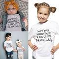 Das crianças Do Bebê Roupas Das Meninas Dos Meninos Tops Papai Amor Impresso T-shirt de Algodão de Manga Curta T-shirt Tops
