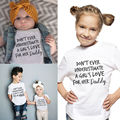 Kids Baby Boys Girls Clothing Tops Daddy's Love Printed Tees Cotton Short Sleeve T-shirt Tops
