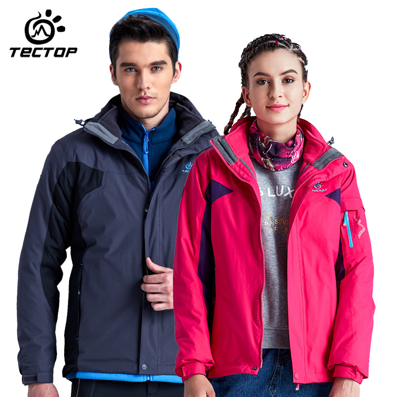 6bc6afd120744 New arrival tectop Autumn and Winter camping Thermal three-in Hiking Jacket  Waterproof Wear-resistant Outwear Jackets