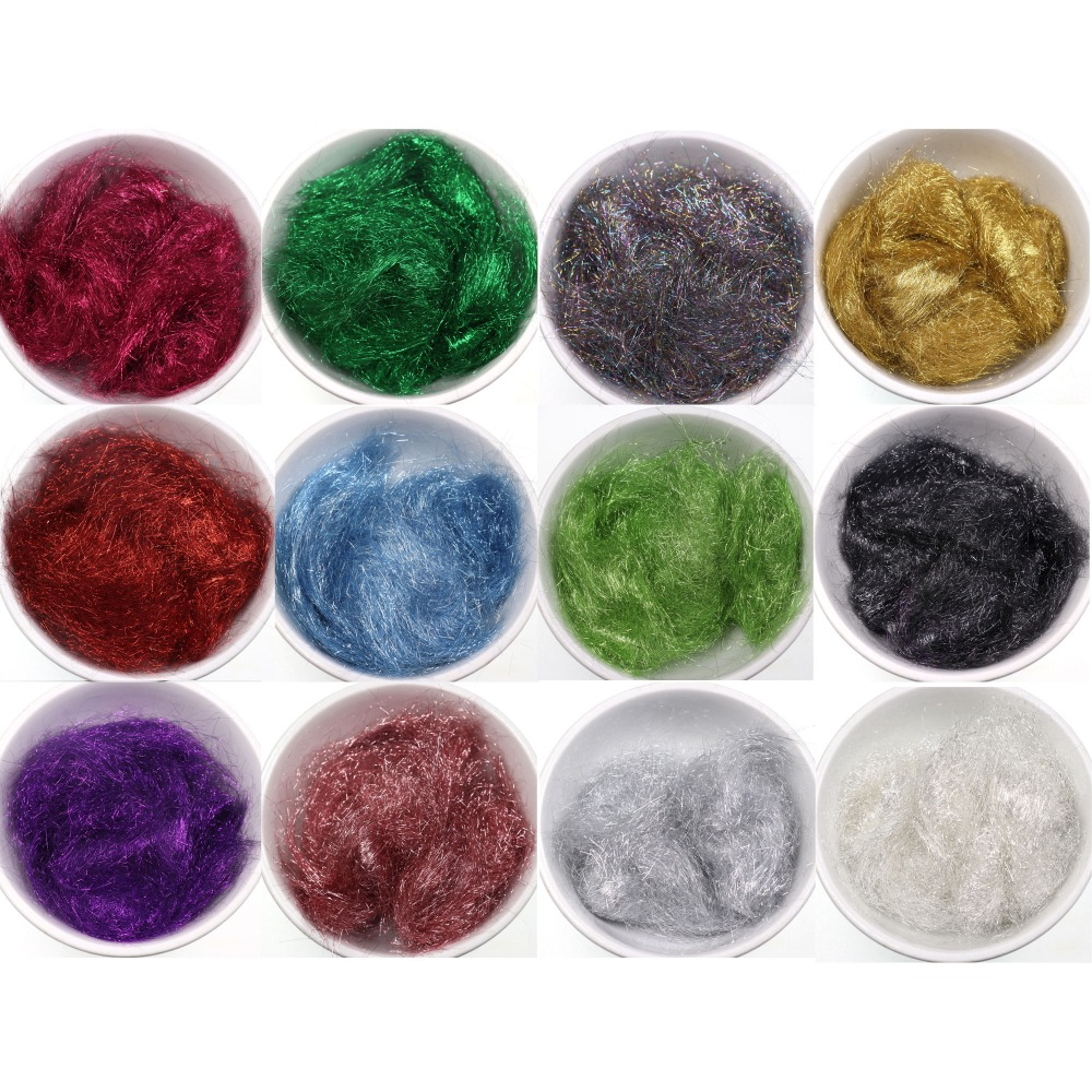 for Nymph Scud Streamers Fly Tying Materials 12pcs Glitter Ice Dub Dubbing