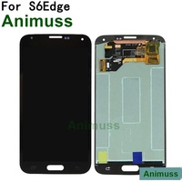 animuss for Samsung S6Edge screen assembly mobile phone S6 curved surface G925 screen LCD display internal screen assembly