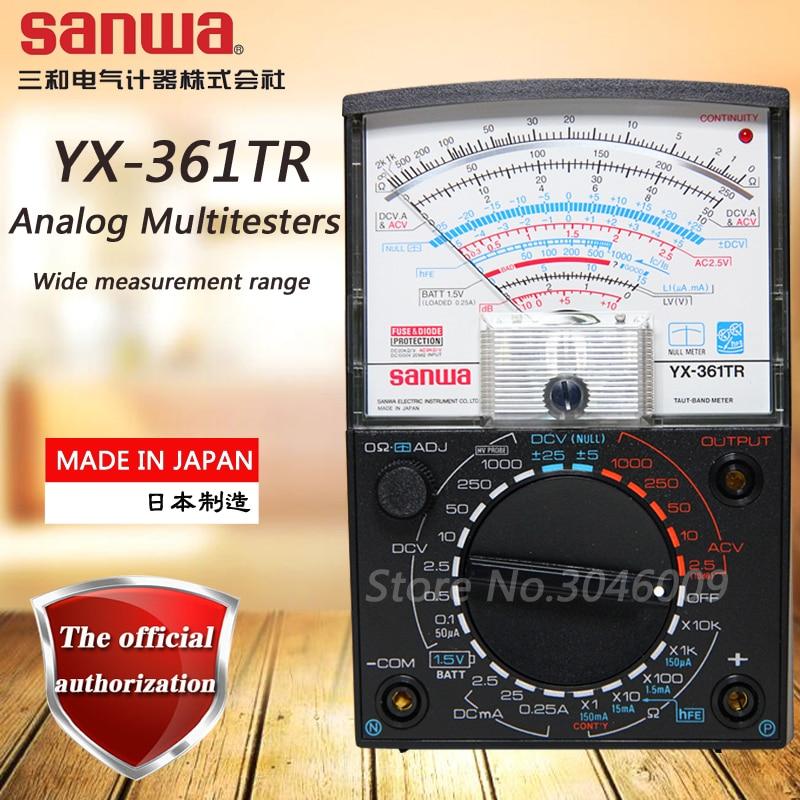 sanwa YX 361TR Analog multimeter pointer multi function multi range multimeter on off check battery check