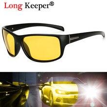 Longo Goleiro Óculos De Sol Dos Homens Polarizados Condução óculos de Visão  Noturna Óculos de Sol Óculos de Lente Anti-Reflexo A.. c309bc0647