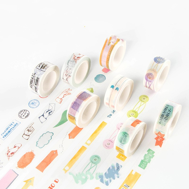 Washi Masking Tape Great For Planner Diary DIY Decor Scrapbooking Sticker Masking Paper Decoration Tape Adhesive School Supplies