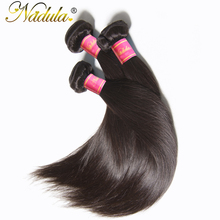 Nadula Hair Products 1Bundle Indian Straight Hair 8-30 inch Non-Remy Hair 100% Human Hair Weave Bundles Machine Double Weft