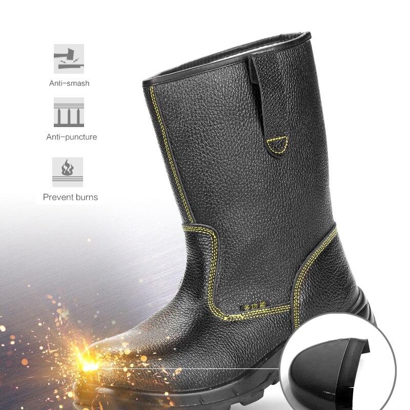 Для мужчин промышленных и строительство проколов безопасности, Рабочая обувь масла рабочей загрузки широкий Сталь носком непрокалывающей...