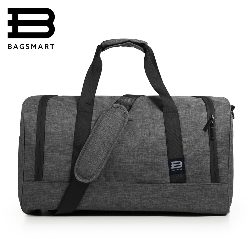 BAGSMART New Travel Bag Large Capacity Men Hand Luggage Travel Duffle Bags Nylon Weekend Bags Multifunctional Travel Bags men travel sports bag large capacity male hand luggage travel nylon duffle bags nylon weekend multifunctional gym bag fitness