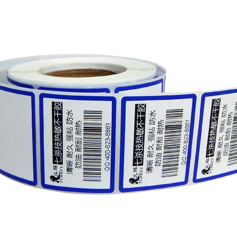 Blue  Color Direct Thermal Label Price Labels 44x34mm (640 Stickers)  For Thermal Label Printer Or Supermarket Weighing Scale