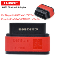 LAUNCH Bluetooth Connector X431 DBScar Adapter for Diagun III/X 431 V/V+/5C/PRO/PRO3/PAD/PAD II/Pros/Pro3S (not easydiag)