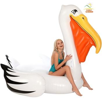 Nadmuchiwany gigantyczny pelikan Tube Float Ride-On tukan pływający w basenie nadmuchiwany nadmuchiwany łabądź ponton Holiday zabawa z wodą zabawka basenowa materac tanie i dobre opinie family garden WOMEN FG1102 220*180cm 2 75KGS