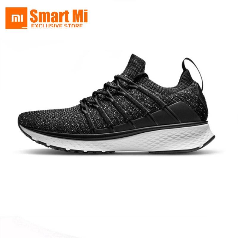 Xiaomi Mijia chaussures de sport Sneaker 2 Uni-moule Techinique nouveau système de verrouillage en arête de poisson élastique tricot Vamp Sports