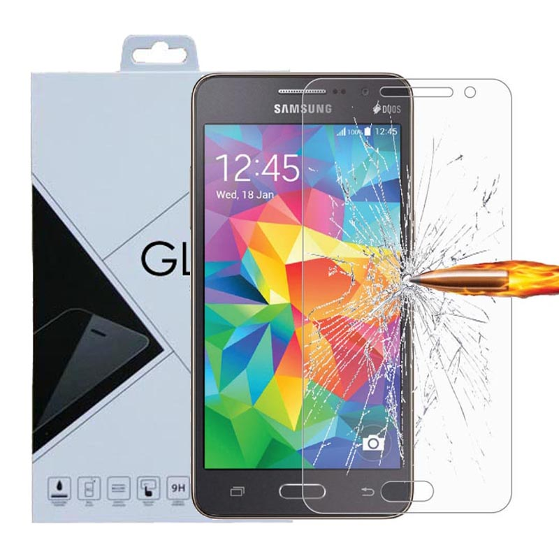 For Samsung Galaxy Grand Prime Tempered glass Screen Protector 0.26mm 2.5 9H Safety Prot ...