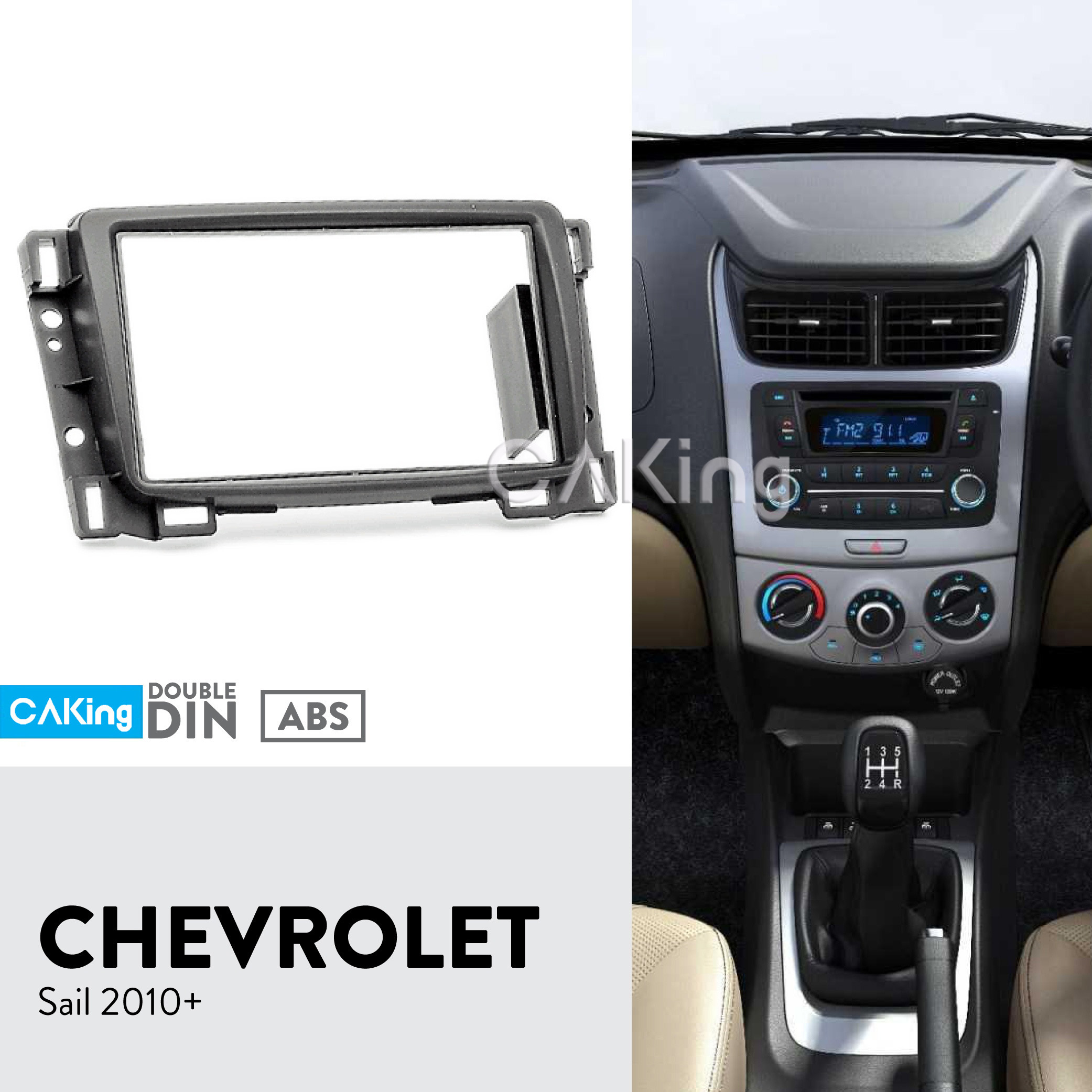 Double Din Fascia Radio Panel For CHEVROLET Sail 2010+ Audio Frame Dash Fitting Kit Facia Face Plate Adapter Cover Front Bezel